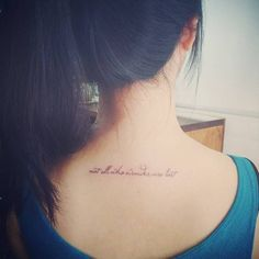 Not all who wander are lost tattoo on the upper...