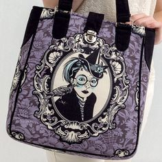 Windy City Bags author Sara Lawson proclaims that one can never have too many bags - agree? We do! Her Trompe le Monde bag features Witch Cameo fabric by Tula Pink.
