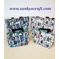 Custom Order,  Animal Land Japanese Cotton Canvas Tote Bags by Zankyo Craft #madebyastressednurse #handmadefabricbags