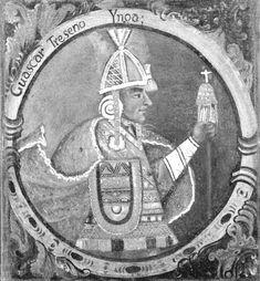 Huascar, Thirteenth Inca, 1 of 14 Portraits of Inca Kings  Published mid 18th century