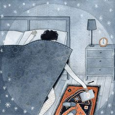This is what I'm like at night when I'm supposed to be asleep but a good book is sitting right beside my bed, waiting to be finished!
