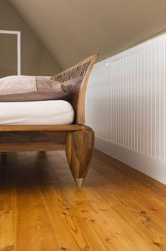 Uberlegen #beadboard.de   Stilvolle Wände #Wandverkleidung #Holzverkleidung  Schlafzimmer   Gemütliche Dachschräge