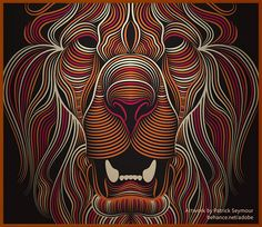 Creative Cloud Illustrator Lion by Patrick Seymour, via Behance Patrick Seymour, Adobe Illustrator, Splash Images, Software, Behance, Animal Projects, Creative Art, Line Art, Art Sketches