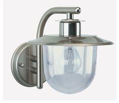 Buitenlamp 7026 (RVS met glas)