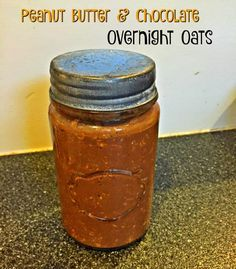 Peanut butter and Chocolate Overnight Oats.  These are 21 Day Fix Approved and taste like a Reese's Cup!