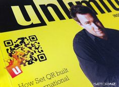 UNLIMITED MAGAZINE QR Code on Cover