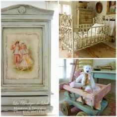 I love the idea of a vintage nursery but the old pictures would be left out....creepy