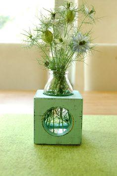 Vázy - Vase aqua ročník - návrhář kus kerfra na DaWanda