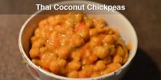 This recipe is super flavourful, really easy to make and it even looks pretty ; If you choose to use canned chick peas this is only going to take yo Whole Food Recipes, Vegan Recipes, Cooking Recipes, Vegan Meals, Veggie Dishes, Food Dishes, Thai Coconut, Coconut Curry, Healthy Food Choices