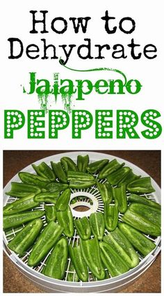 Dehydrating food preserves the nutrients and takes up less space than canning. Learn how to dehydrate jalapeño peppers today. It's fast and easy!