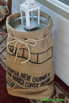14 Sensational Coffee Bag Rug Coffee Bags With Valve Burlap Projects, Burlap Crafts, Outdoor Projects, Craft Projects, Glamping, Coffee Cafe Interior, Coffee Bean Sacks, Burlap Coffee Bags, Burlap Sacks