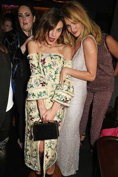 modamodemodus: Alexa Chung and Rosie Huntington-Whiteley at the British Fashion Awards 2015