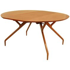 """Greta Grossman Drop Leaf Table  USA  1950  Glenn of CA Table with drop leaves. When leaves down the Table can be used as a console 18"""" D X 54"""" W. Each drop leaf is 18""""."""