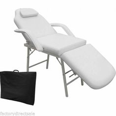 73-Portable-Tattoo-Parlor-Spa-Salon-Facial-Bed-Beauty-Massage-Table-Chair-White