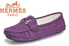 Hermes Ladies Moccasin Purple