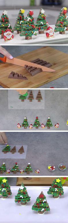 Kit Kat Christmas Forest | Easy No Bake Holiday Desserts Christmas