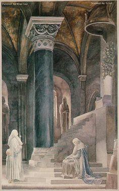 Gandalf and Danator (Alan Lee)
