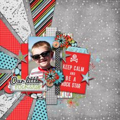 Digital Scrapbook Page by Britt | You Rock Collab by Bella Gypsy and Ziggle Designs