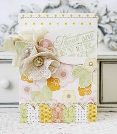 Floral Thank You Card by Melissa Phillips for Papertrey Ink (May 2013)