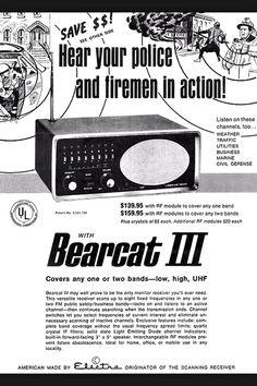 Bearcat III ad 1970s Scanner Radio