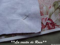 La casita de Rosa: Porta tijeras y Alfiletero con tira hilos. Patchwork Bags, Sewing, Baby Hats, Pink, Owls, Hand Soaps, Handmade Crafts, Ideas, Sewing Accessories