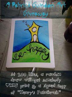 Paint Brushes, I Am Happy, Get Over It, Giveaway, Original Art, Draw, Facebook, The Originals, Prints