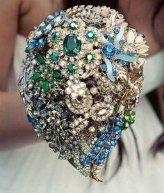 Blue jewel bouquet