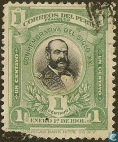 Stamps - Peru - Maria Miguel Grau 1901