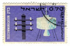 Israel Postage Stamp: Telecommunication by karen horton, via Flickr