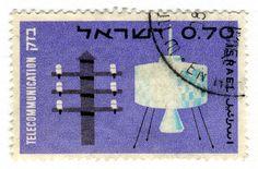 Israel Postage Stamp: Telecommunication by karen horton, via Flickr