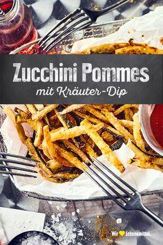 Zucchini Pommes, Zucchini Fries, Vegetarian Recipes, Cooking Recipes, Healthy Recipes, Vegan Snacks, Healthy Snacks, Healthy Fries, Eat Smart