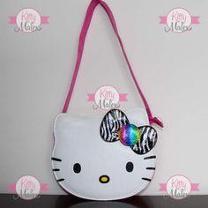 Bolsa De Asa PARA NIÑA Animal Print Cebra Hello Kitty Sanrio Hello Kitty, Saddle Bags, Totes, Handmade, Felt Pouch, Head Bands, Satchel Handbags, Purses, Girls Bags