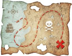 While They Snooze How To Make A Pirate Treasure Map Diy