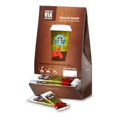 Starbucks Instant Coffee - Ok taste, but great for if you're in a rush, or if you want to make coffee flavored brownies