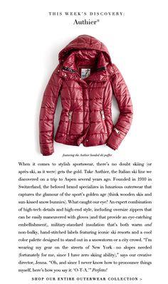 JCrew.com- Authier Ski jacket