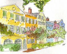Charleston watercolor art