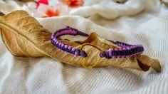 pink and purple bracelet, macrame bracelet, macrame handmade, gentle bracelet, micro macrame, jewelry, heart bead, brass bead by NarkisMacrame on Etsy