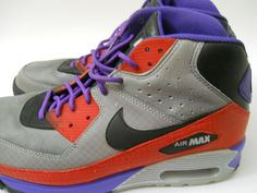 Nike Air Max 90 Sneakerboot Size US 9.5 Starscream Shoe Purple Red Gray Mens #Nike #AthleticSneakers