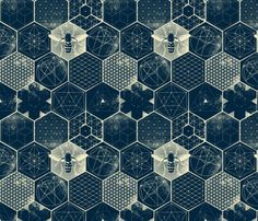 Buy The Honeycomb Conjecture custom fabric, wallpaper and home accessories by strange_phenomena on Spoonflower Textures Patterns, Color Patterns, Print Patterns, Bee Illustration, Bee Honeycomb, Bee Art, Geometric Art, Cute Wallpapers, Custom Fabric