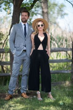 Diane Kruger (in vintage Roland Mouret) and Joshua Jackson. ELLE.com photographer Tyler Joe captures the chicest street style moments from Veuve Cliquot Polo Classic in New York City's Liberty Island, where Hollywood's finest gathered to kick off summer.