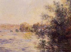 Effet du soir sur la Seine (C Monet - W 702),1881.