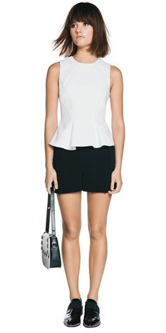 CUE - Structured Peplum Top C30662 RRP $189.