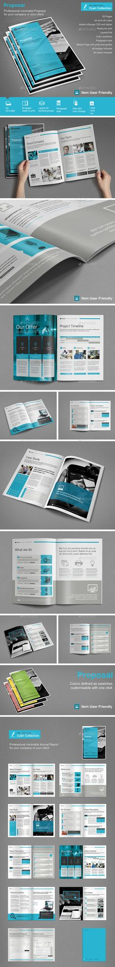 Proposal Template | #proposal #proposaltemplate | Download: http://graphicriver.net/item/proposal/9662242?ref=ksioks