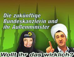 #Realsatire #Islamisierung Die zukünftige Bundeskanzlerin und ihr Außenminister. Wollt ihr das wirklich?