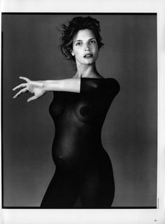 From Egoïste - Vol 13 / Folio 1, April 1995 La Passante du Siecle Richard Avedon Stephanie Seymour