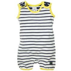 Sailor boy baby swim suit...reminds me of the muscle man in a circus...