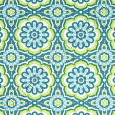 Anthology Bonjour Floral Medallions Blue & Green