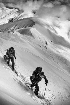 """ski mountaineering . .""  by Matej Rumansky"