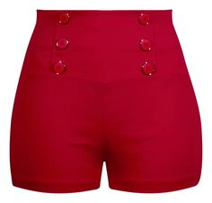 High Waisted Retro Shorts in Red b77a78681f8