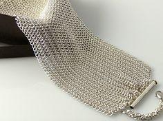 Faibrici Mesh Cuff Bracelet - Argentium Sterling Silver – Diana Ferguson Jewelry